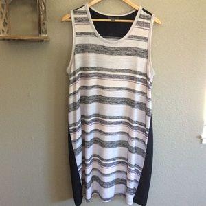EUC Market & Spruce Mixed Media Striped Dress XL